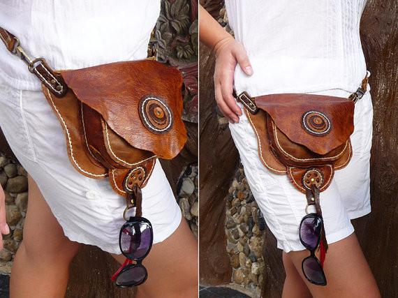 Leather Hip & Shoulder Bag