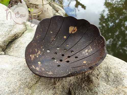 "Coconut Shell ""Sea Shell"" Soap Dish"