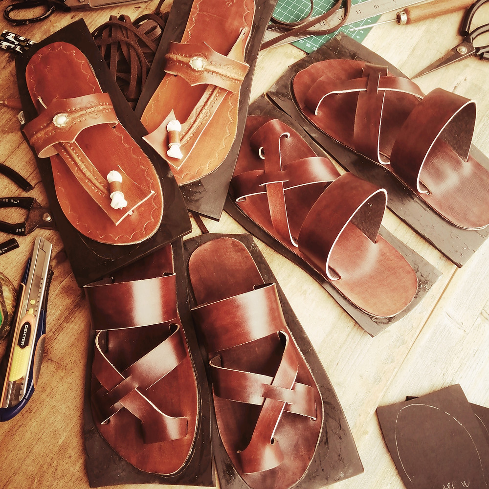 Our handmade leather sandals. Made by hand. Always