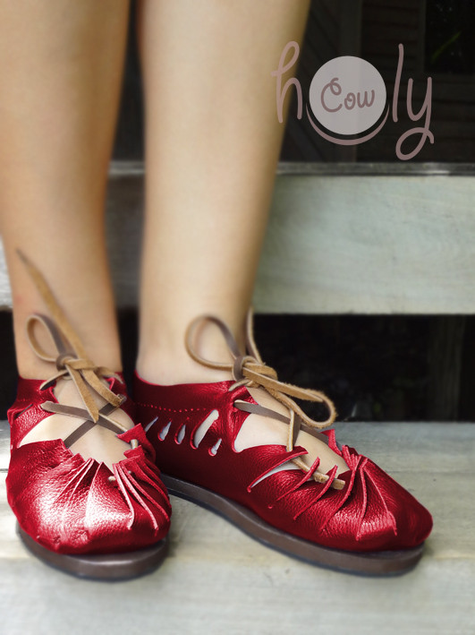 Put on these amazing red shoes and dance the summer away!