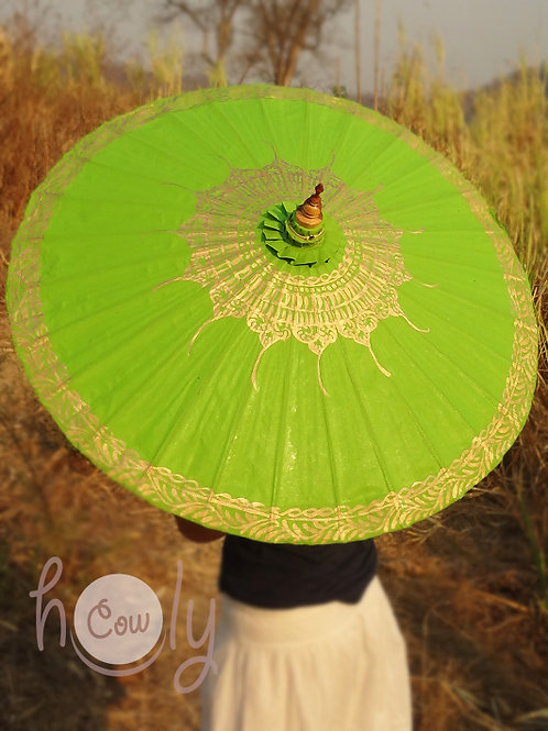 Green waterproof parasol/umbrella