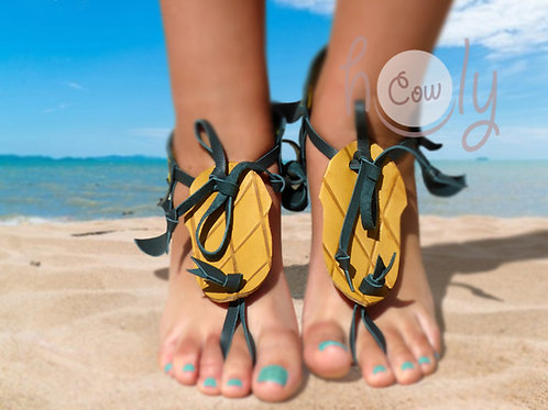 Handmade Pineapple Leather Barefoot Sandals
