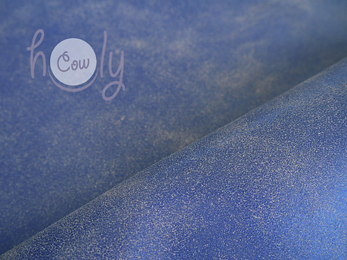 Genuine Blue Cracked Cow Leather