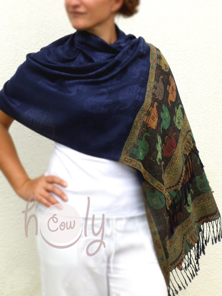 Stylish Large Soft Pashmina Elephant Scarf