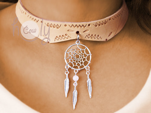 Necklace With Dream Catcher Pendant
