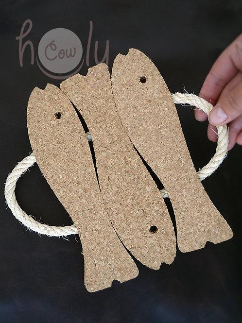 Natural Fish Cork Hot Pads