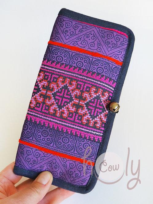Handmade Tribal Purple Wallet