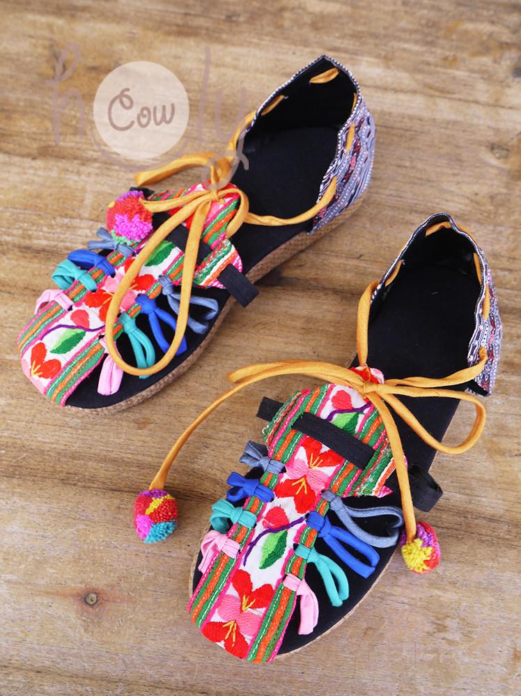 Handmade Boho Tribal Vegan Sandals