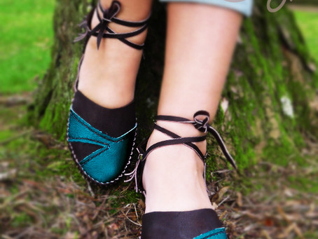 New stylish 100% Handmade Brown and Turquoise Leather Sandals