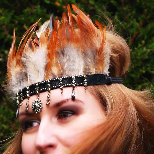 Handmade Boho Feather Headband