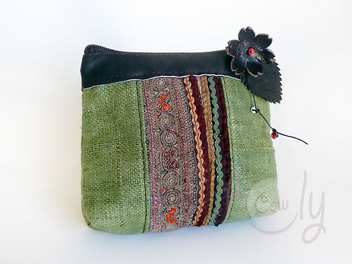 Green and Brown Tribal Wallet