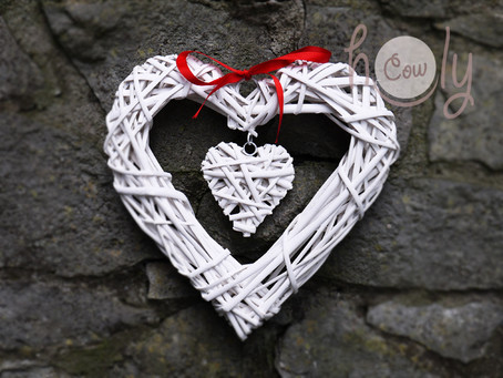 Hand Woven Heart Shaped Wicker Wall Hanging