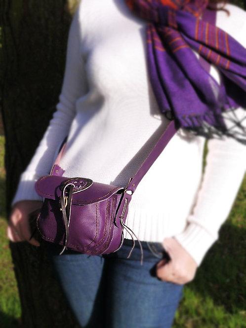 "Purple Leather ""Magic Circle"" Bag"