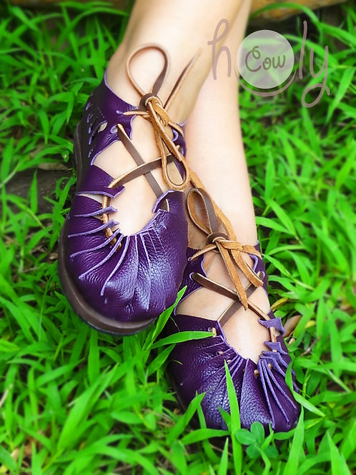 """Sexy"" Purple Leather Sandals"