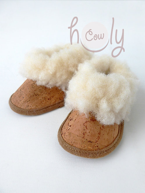 Eco Friendly Vegan Cork Baby Moccasins