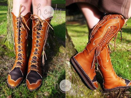 NEW Design just made! 100% Handmade Brown Leather Sexy Women's Moccasins