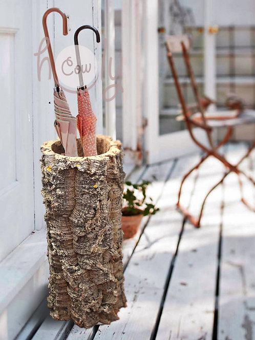 Natural Large Cork Bark Umbrella Stand