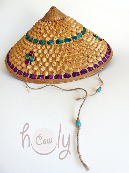 Handmade Traditional Asian Conical Hat