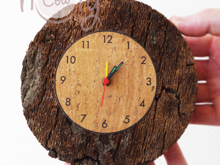 Our Natural Cork Clock Is Eco-friendly Solution For Your Timing Needs