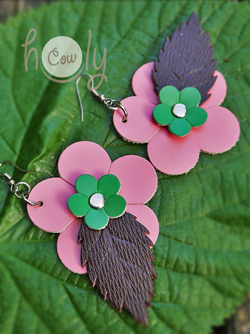 Boho Pink Flower Power Earrings