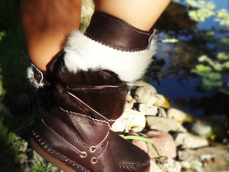Beautiful 100% Handmade Funky Moccasins With Hairy Cowhide