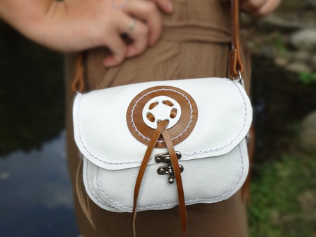 Dance with the sun this summer with our new bright white shoulder bag!