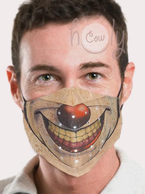 Clown Reusable Cork Face Mask