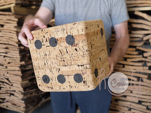 Eco Friendly Solid Cork Dice Stool