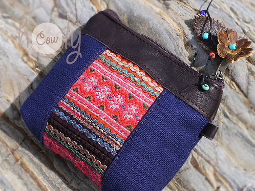 Blue and Pink Tribal Wallet