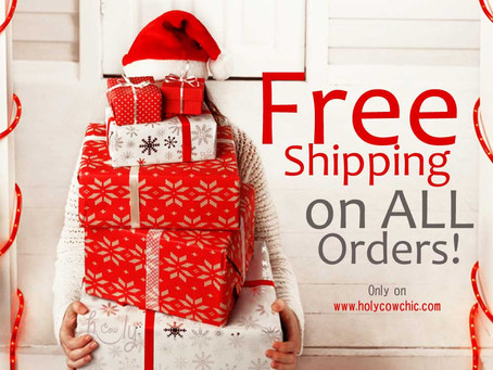 Happy Holidays With FREE Shipping!
