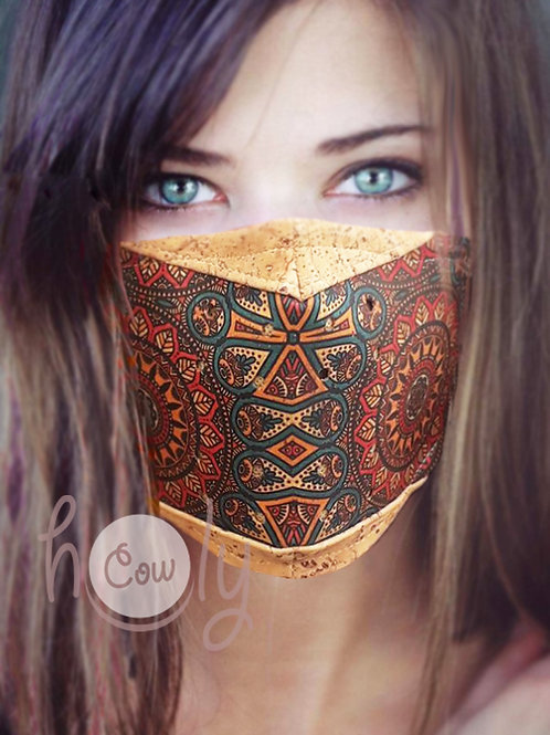 Tribal Reusable Cork Face Mask