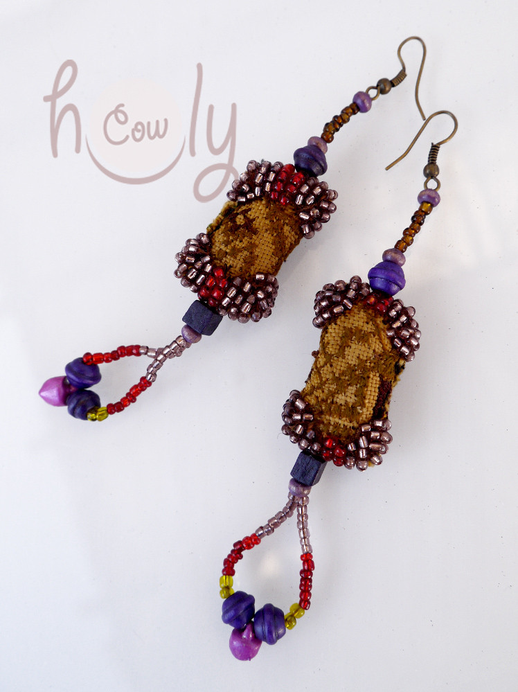 Handmade Brown Tribal Boho Chic Earrings