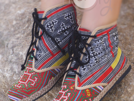 New Women's Tribal Vegan Red And Black Ankle Boots