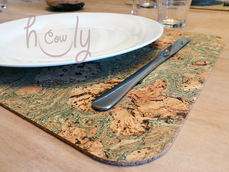 Our cork table placemat saves your time and effort in the kitchen!