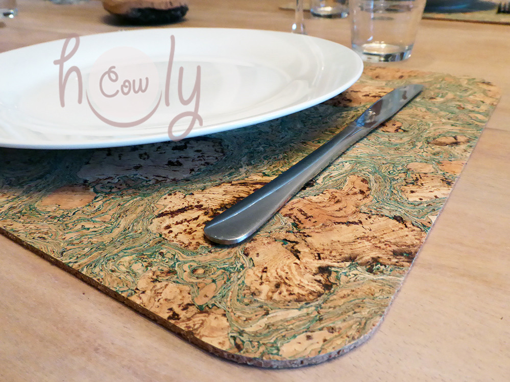 Handmade Natural Eco Friendly Large Cork Placemat