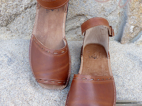 New Handmade Brown Leather Sandals!