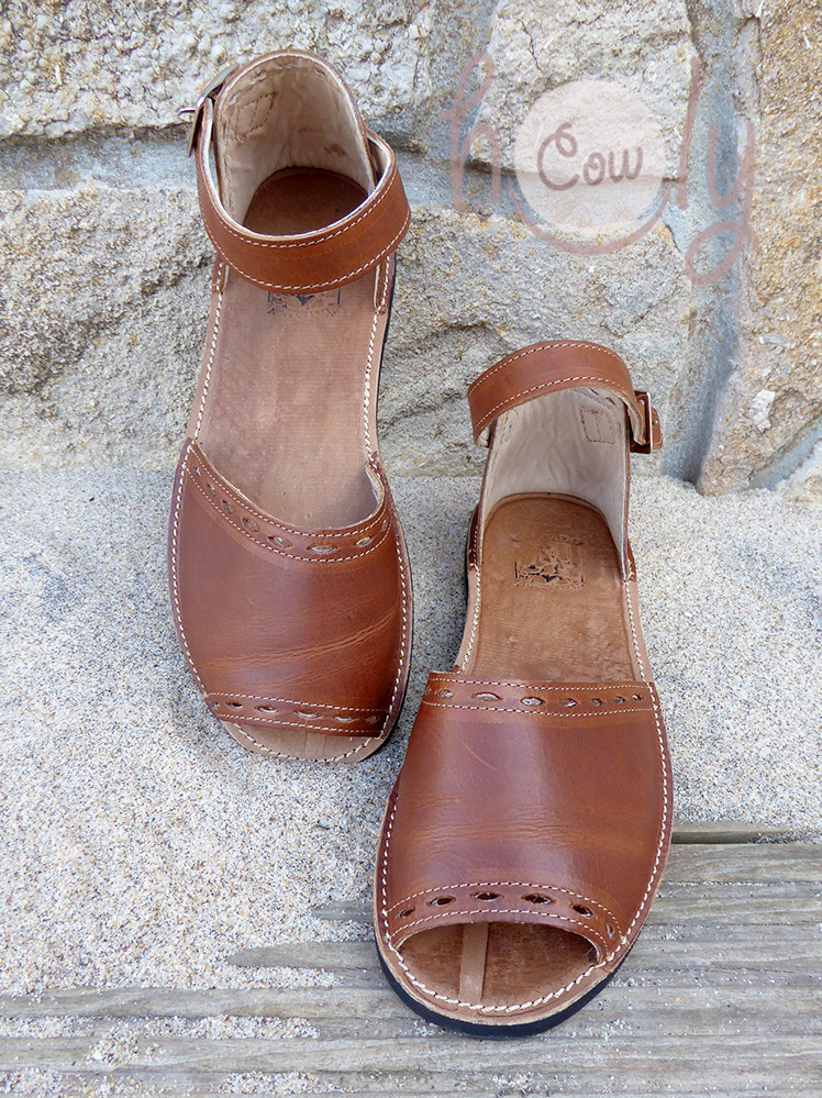 New Handmade Brown Leather Sandals