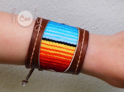 Brown Leather Serape Bracelet