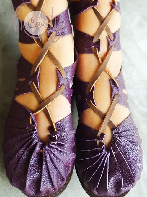 """Super Sexy"" Purple Leather Sandals"
