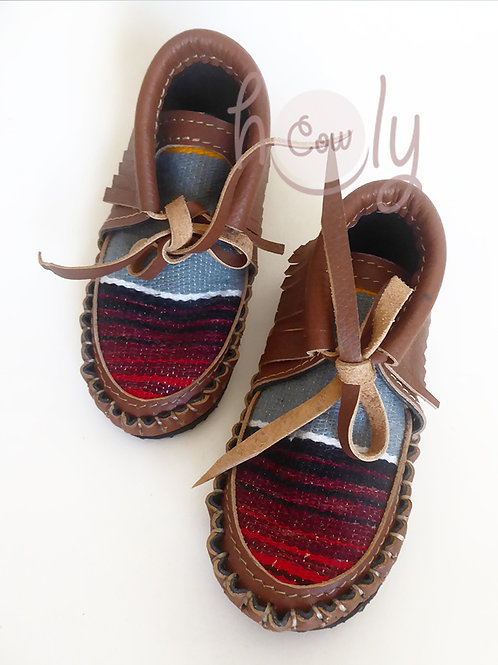 Brown Leather Baby Serape Boots