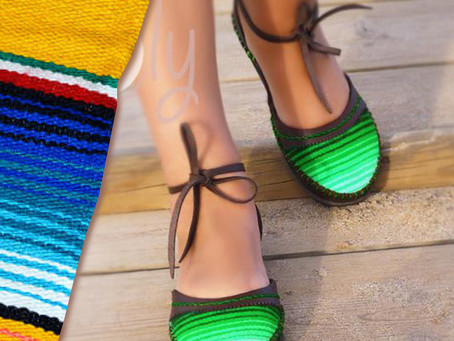 Serape SALE! Unique Handmade Serape Sandals