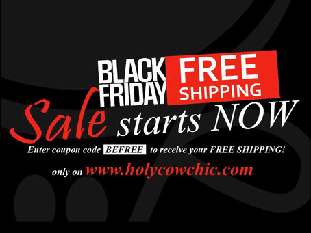 Black Friday FREE SHIPPING SALE Starts Now!