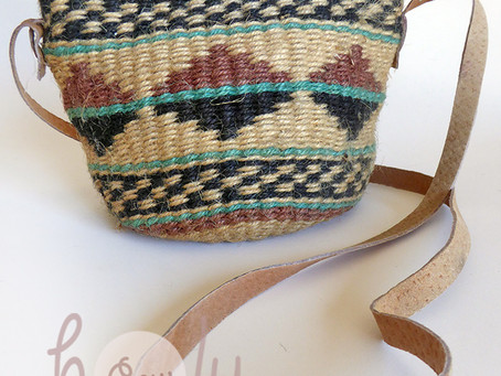 Jute Rope Bag With A Unique Tribal Feel