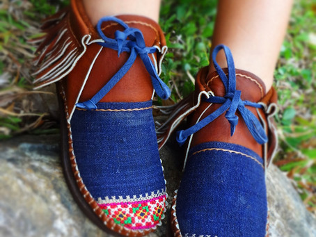 Beautiful Funky 100% Handmade Hill Tribe Leather Inca Boots