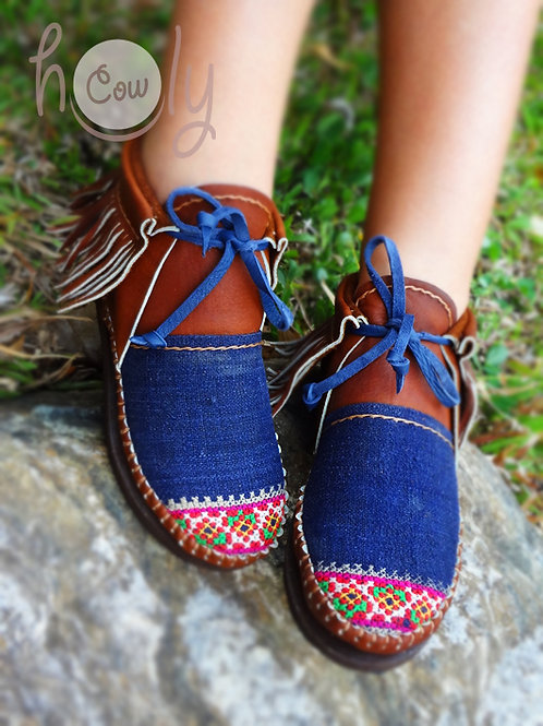 Hill Tribe Leather Inca Boots