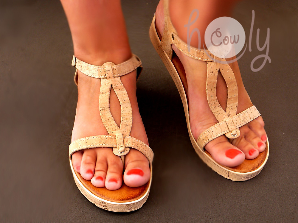 Handmade Eco Friendly Vegan Cork Sandals