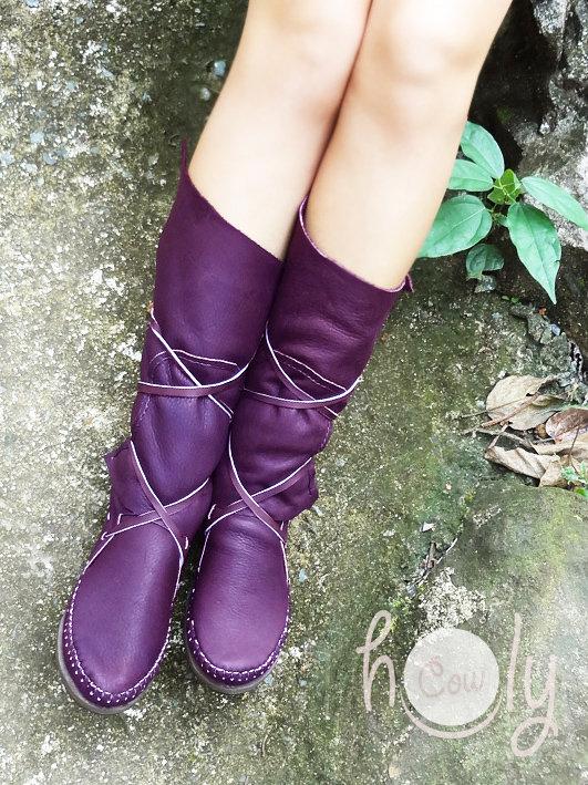 0f45fe32757 Beautiful Funky Purple Moccasins
