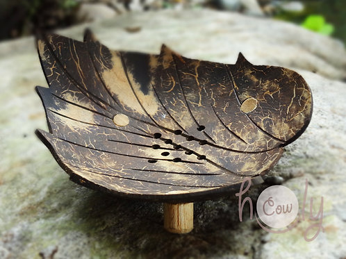 "Coconut Shell ""Leaf"" Soap Dish"