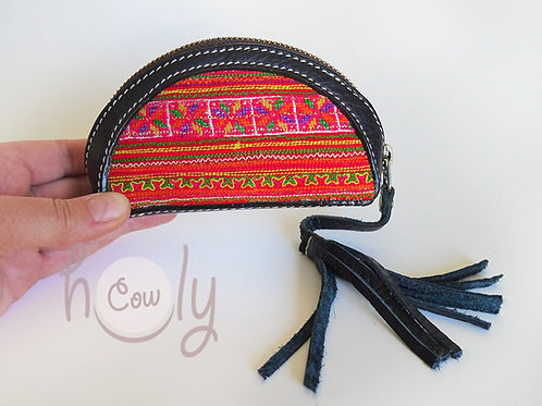 Tribal Black Leather Wallet
