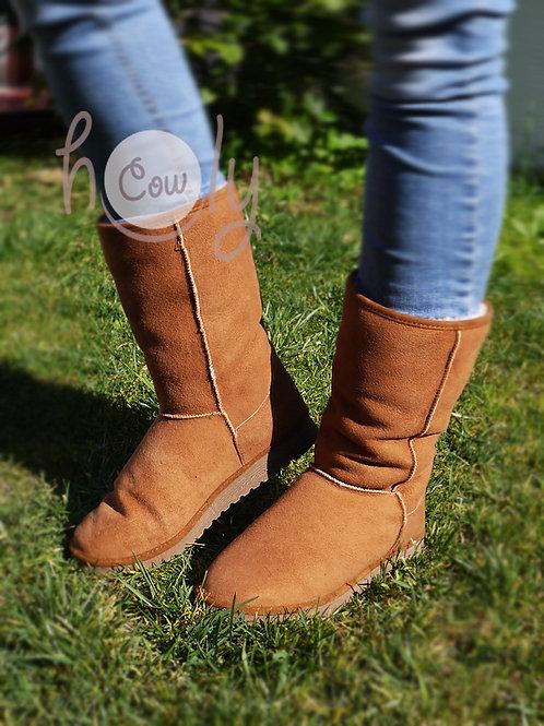 Handmade Brown Sheepskin Boots